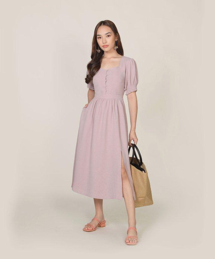 Lafayette Midi Dress - Dust Lavender