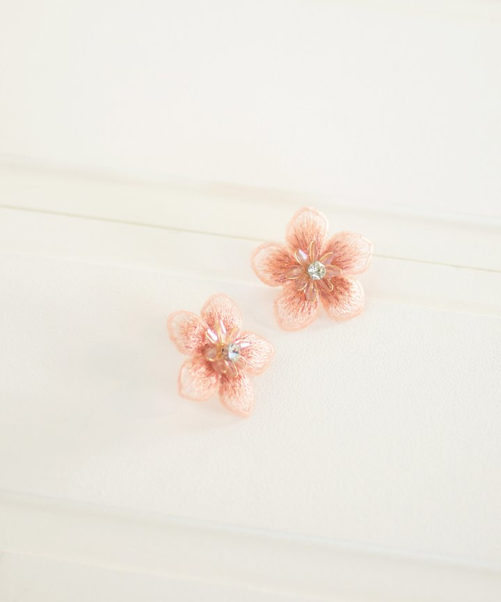Technicolor Floral Statement Earrings