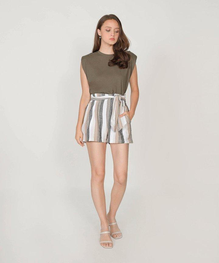Coastal Striped Linen Shorts