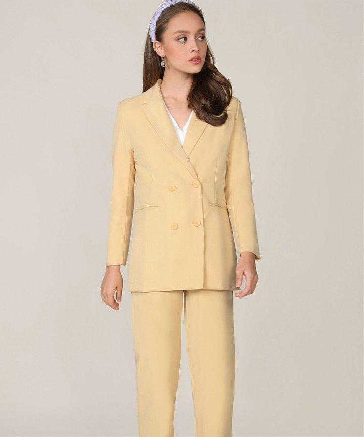 Elin Longline Blazer - Mellow Yellow