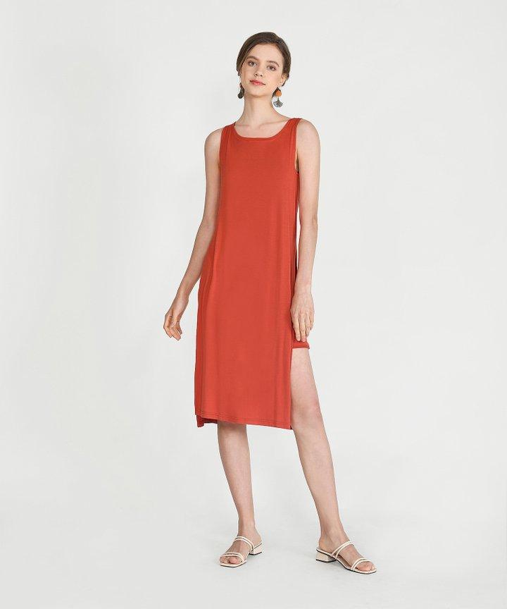 Midas Midi Dress - Vermillion