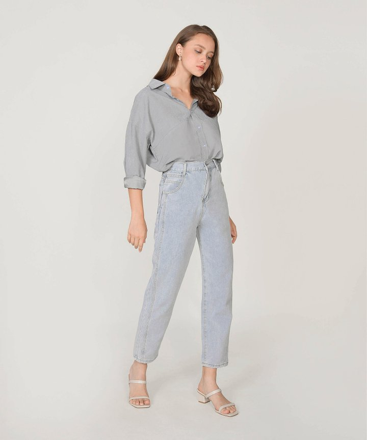 Moscato Button-Down Woven Shirt - Slate Grey