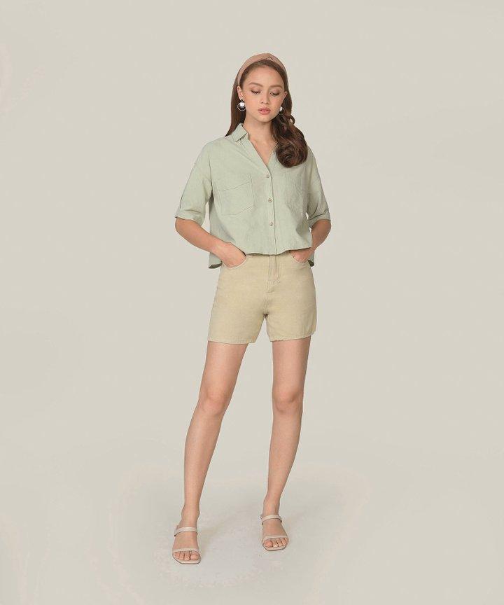 Simonne Chambray Shirt - Sage