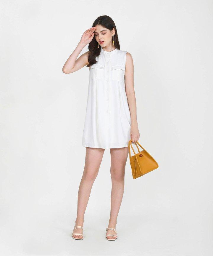 Olivier Chambray Shift Dress - White