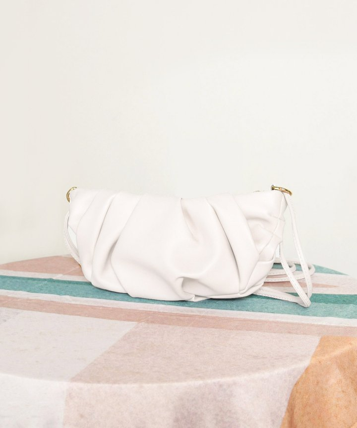 Wayfarer Ruched Bag - Ivory