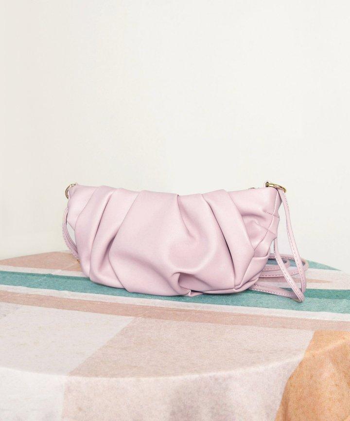 Wayfarer Ruched Bag - Lilac (Restock)