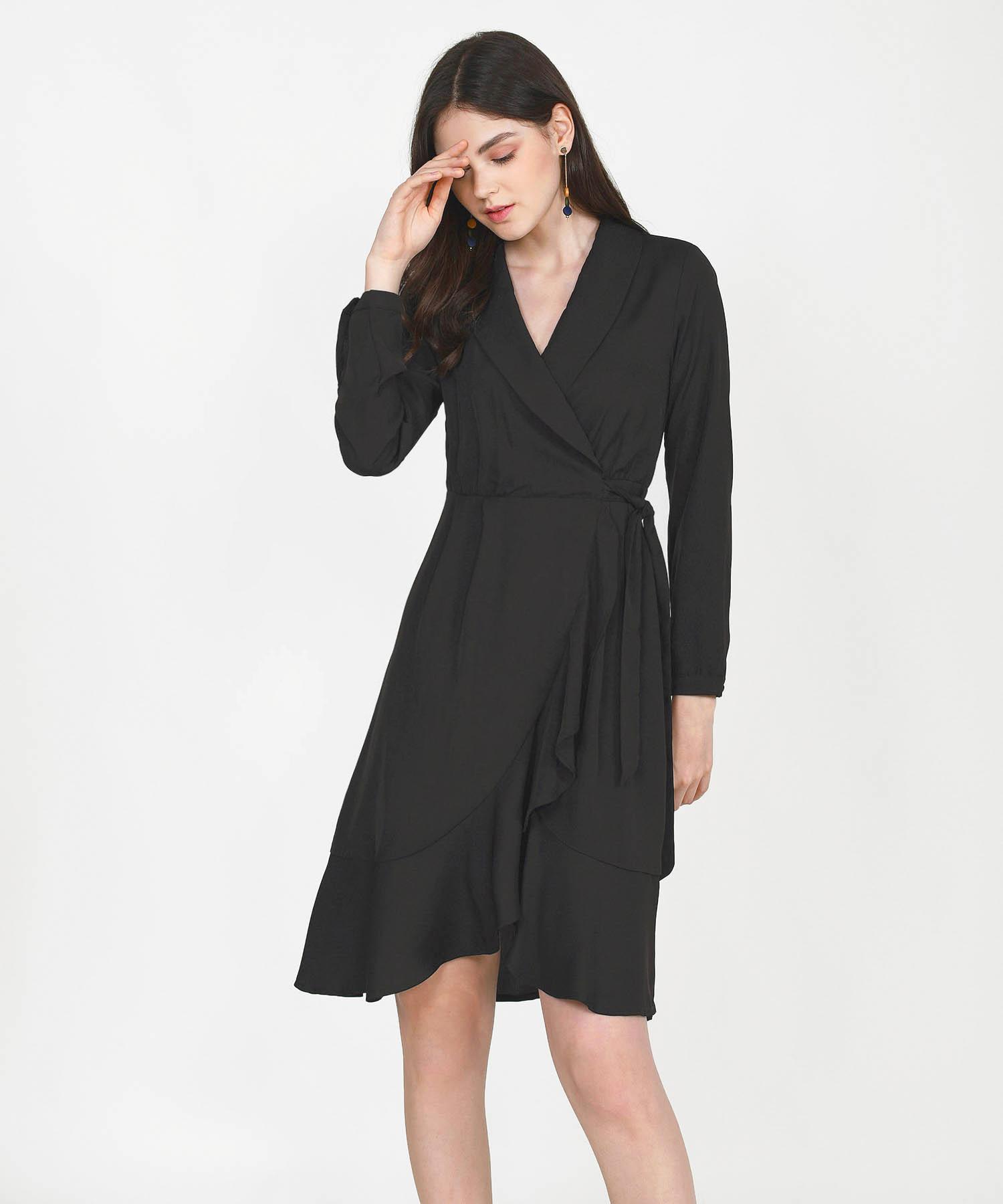 melisse-wrap-midi-dress-black-1