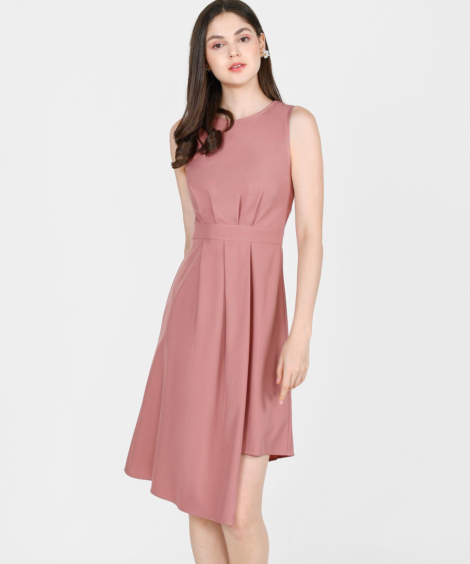 saloni-asymmetrical-midi-dress-dust-rose-1