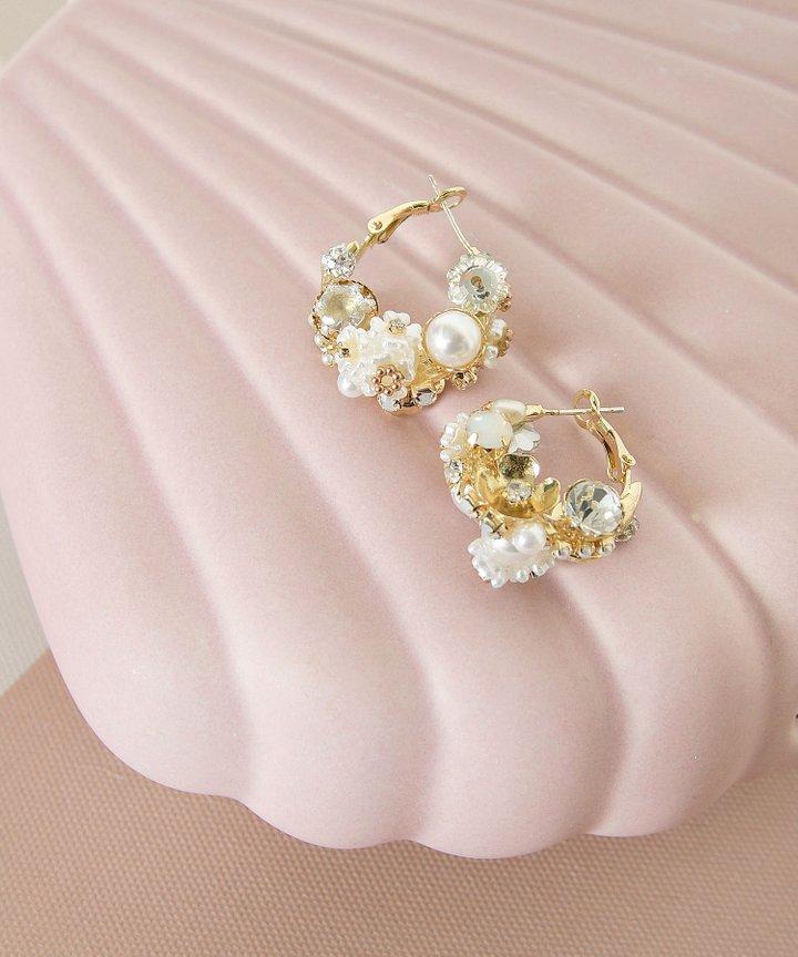 Aloise Pearl Cluster Earrings (Restock)
