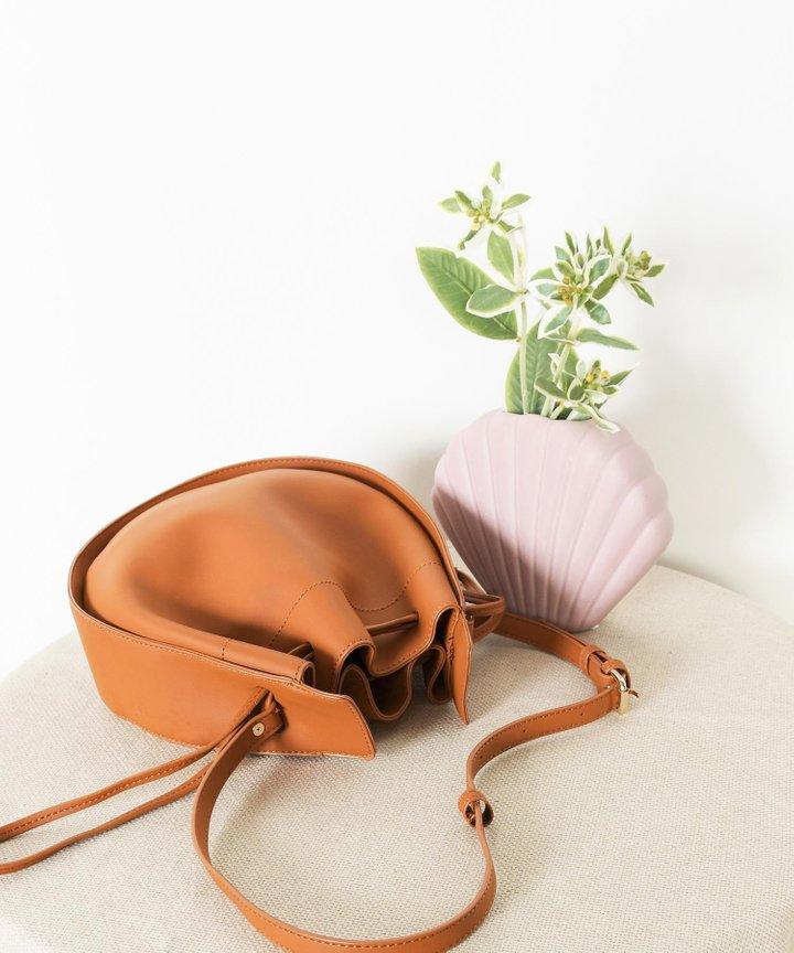 Sixtine Circle Bucket Bag - Caramel (Restock)