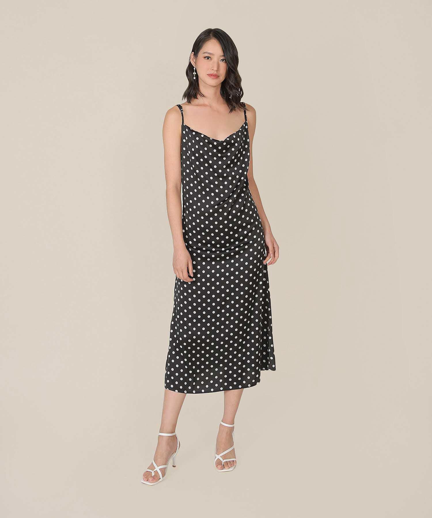 berenice-polka-cowl-neck-midaxi-dress-black-1