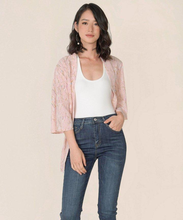 Amaia Printed Kimono - Pale Pink