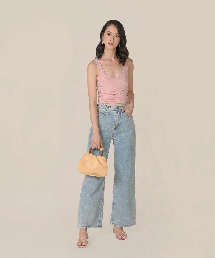 Affogato Wooden Handle Bag - Pale Marigold