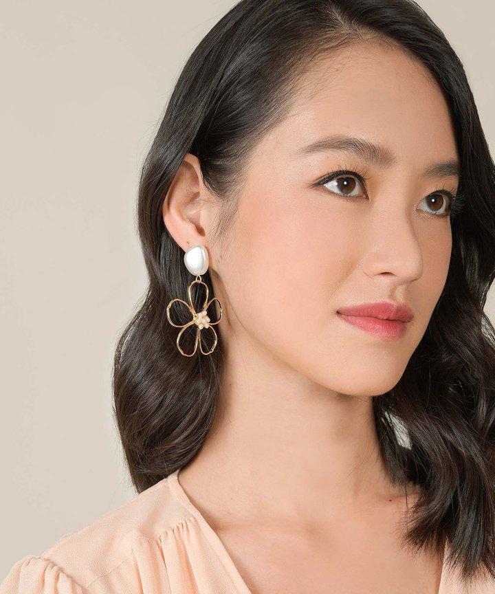 Brooke Floral Statement Earrings