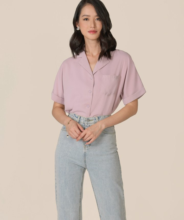 Canberra Blouse - Lilac