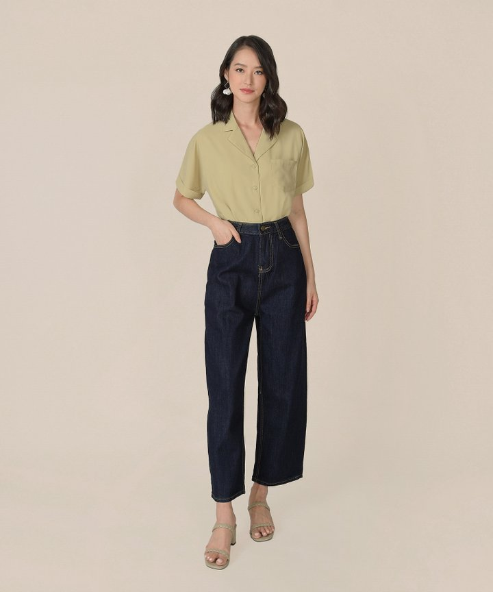Canberra Blouse - Pale Chartreuse
