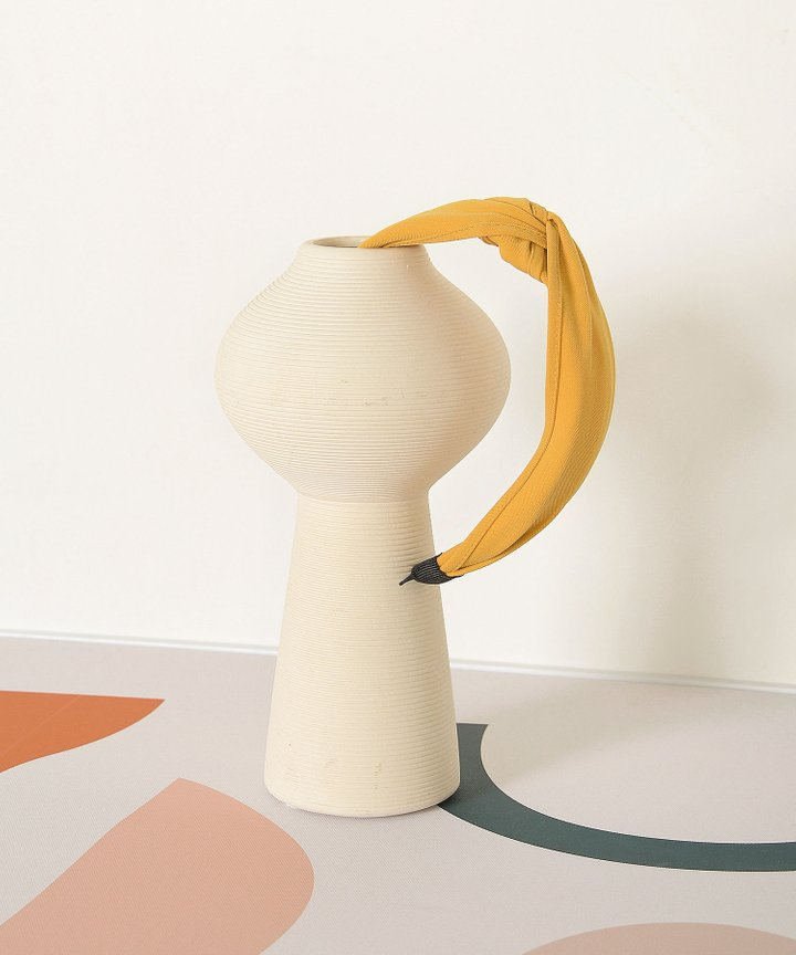Elm Knot Hairband - Mustard