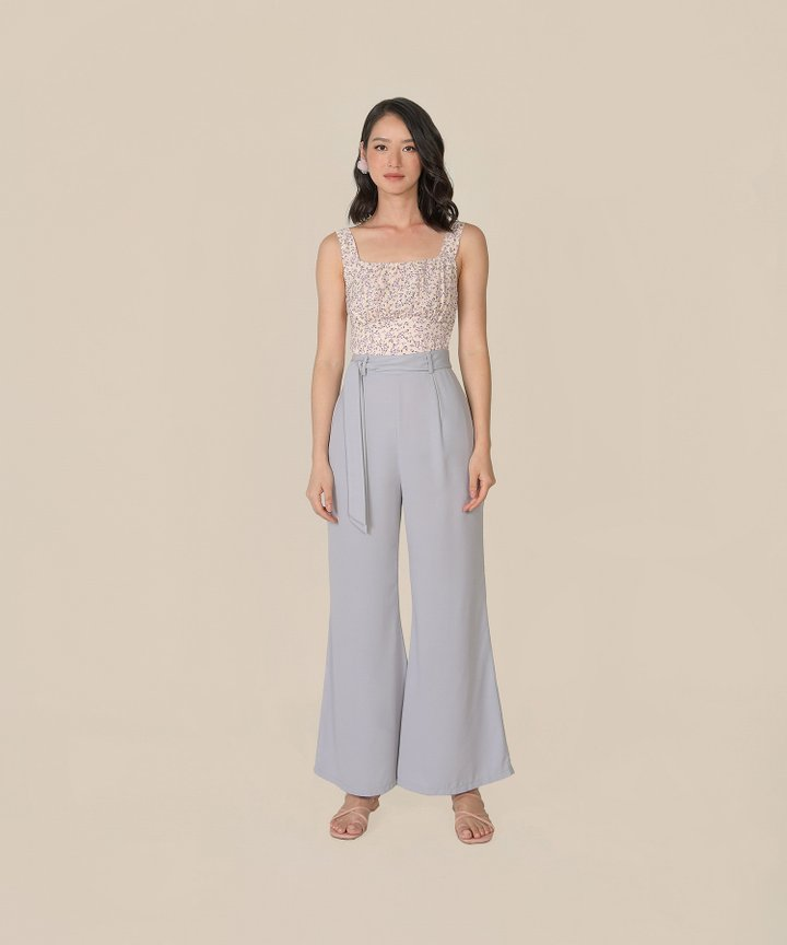 Nectar Floral Ruched Top - Blush