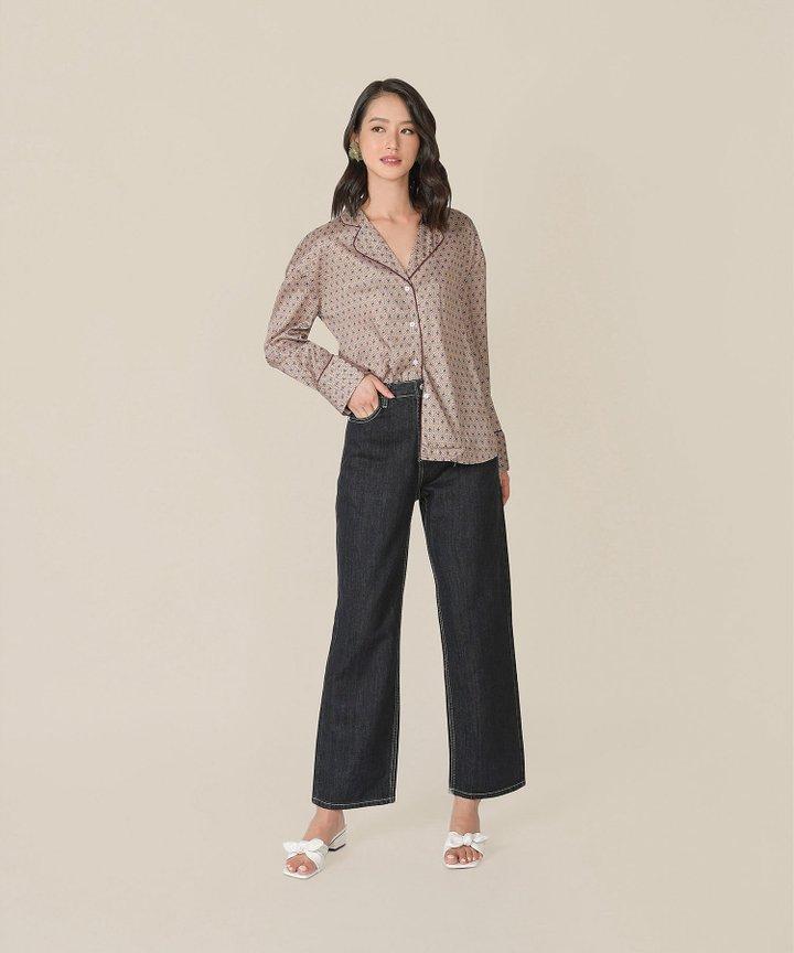 Niche Contrast Stitch Jeans