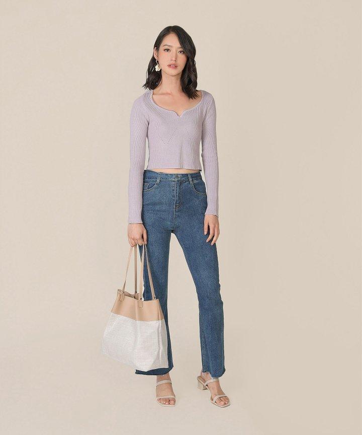 Rio Vista Knit Top - Pale Lavender