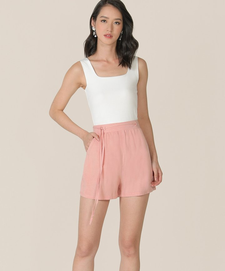 Sorbet Linen Shorts - Blush