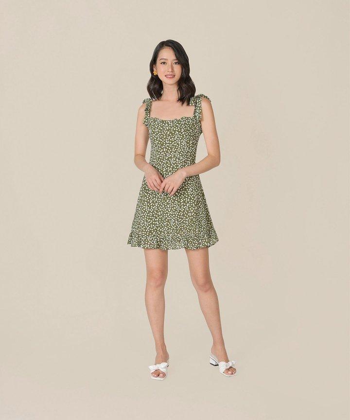 Thyme Printed Mini Dress (Restock)