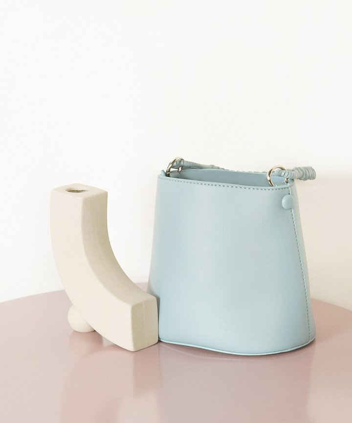 Viola Mini Bucket Bag - Stone Blue