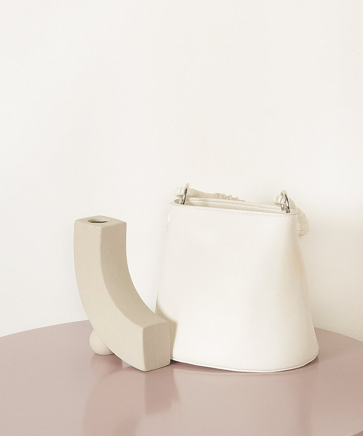 Viola Mini Bucket Bag - White