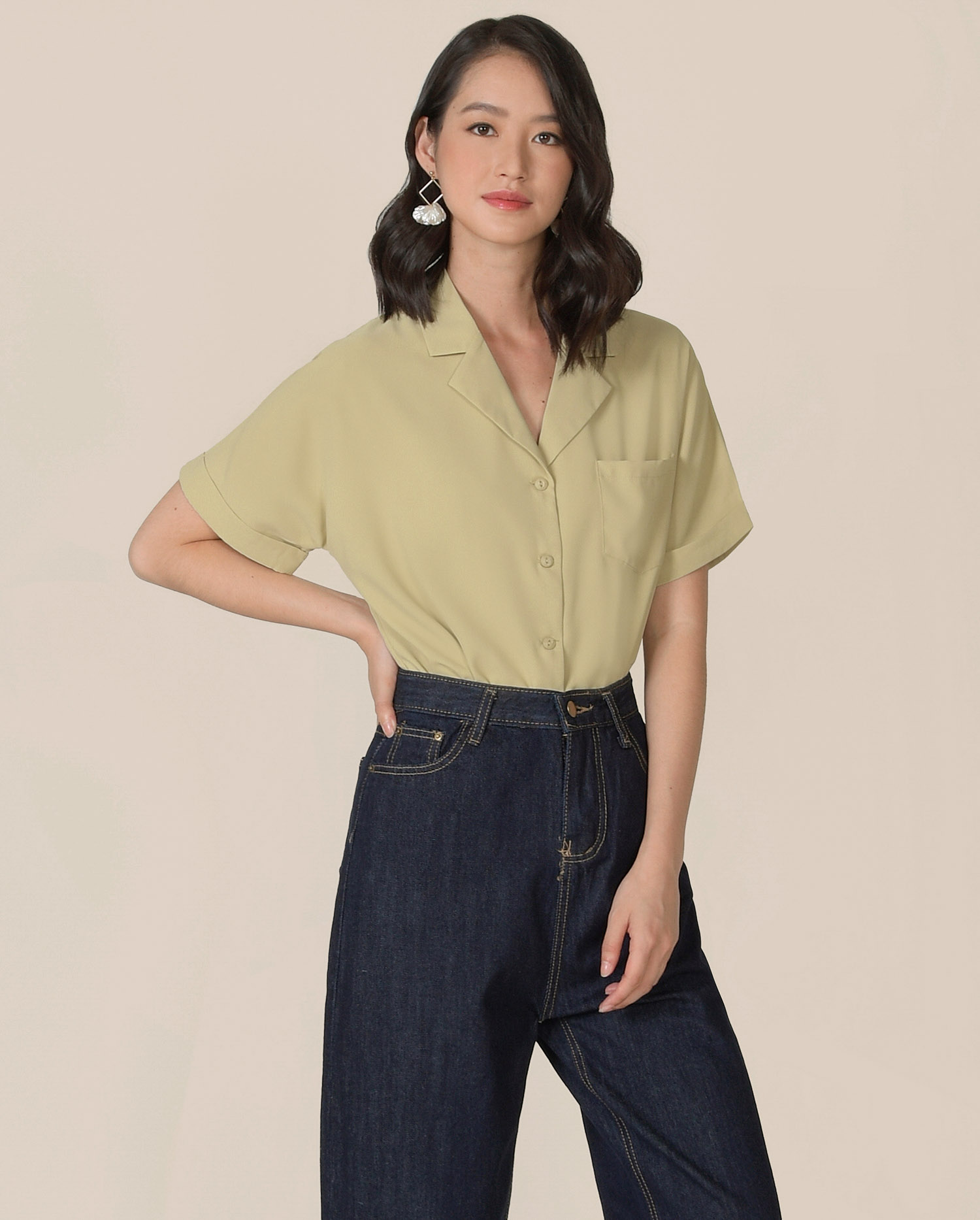 canberra-blouse-pale-chartreuse-1