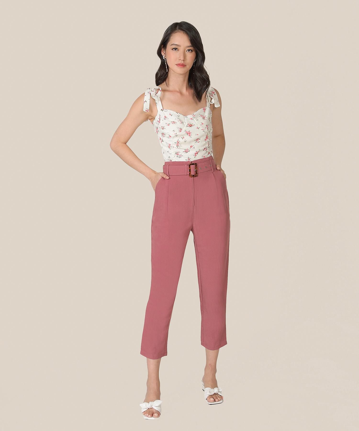 mirador-high-waist-belted-trousers-raspberry-1