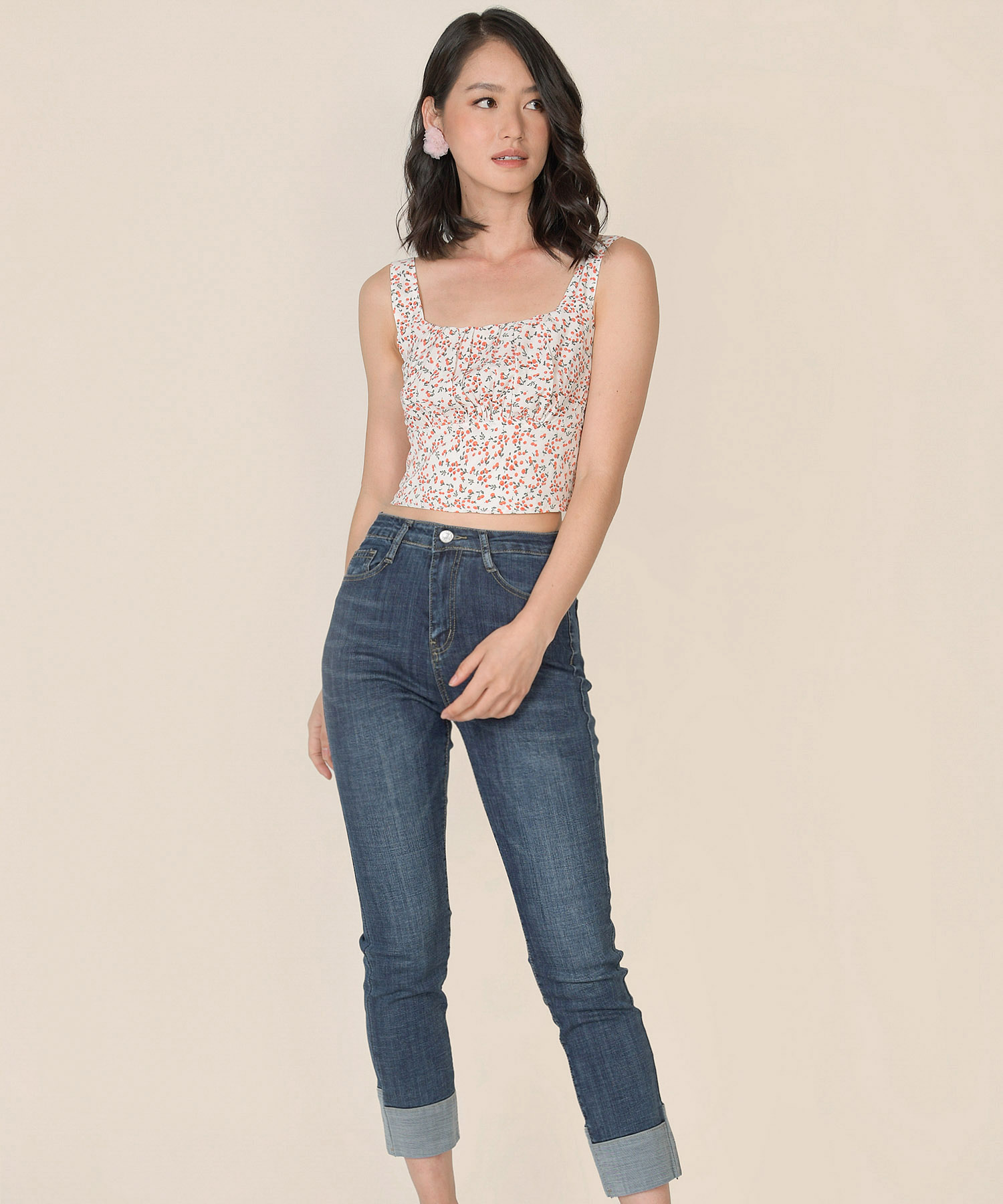 nectar-floral-ruched-top-white-1