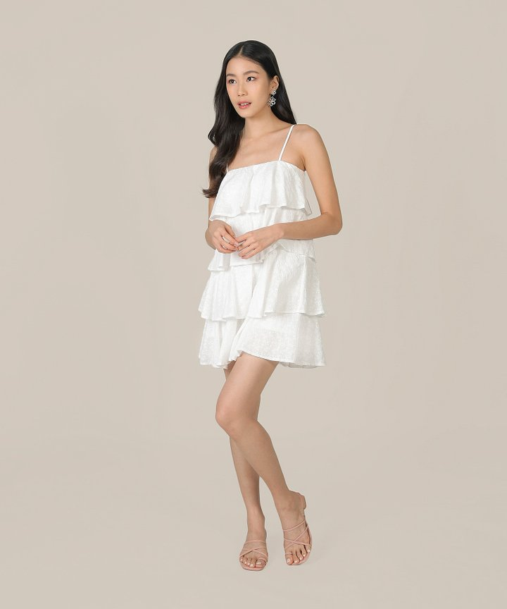 Mischa Eyelet Tiered Dress - White
