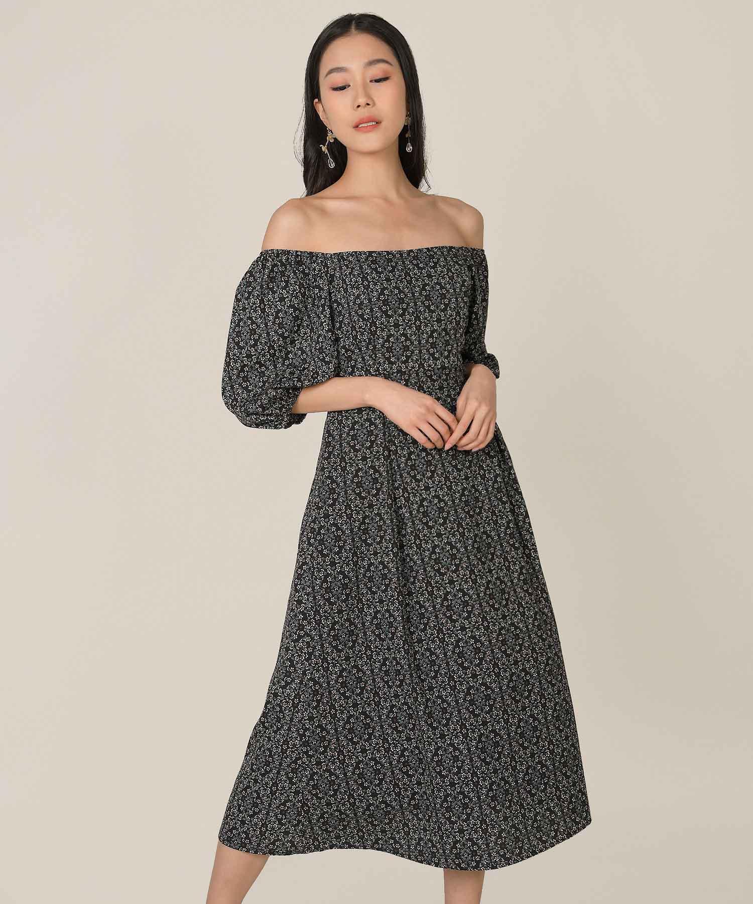 artesia-floral-motif-midaxi-dress-black-1