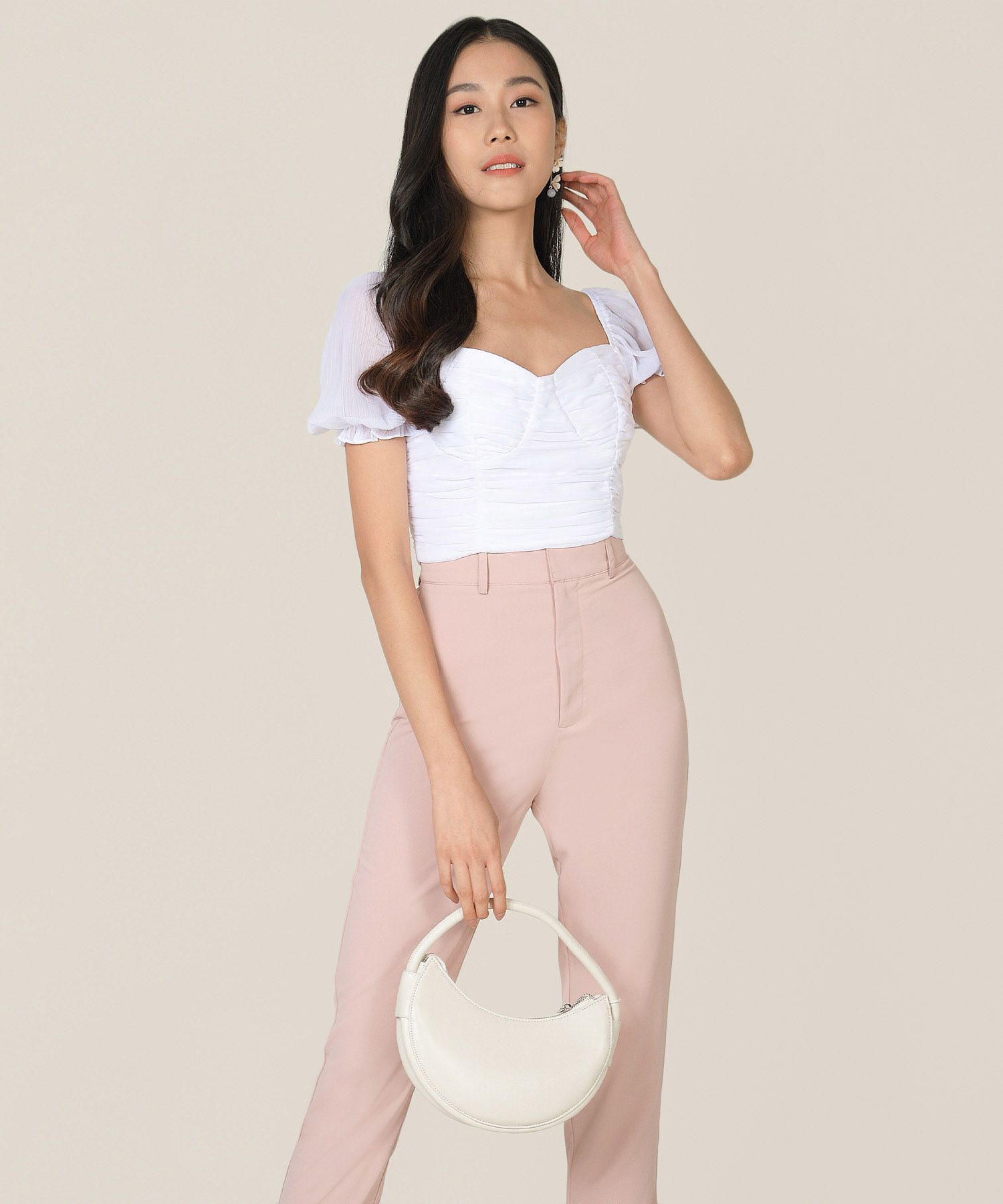 esmire-ruched-cropped-top-pearlescent-1
