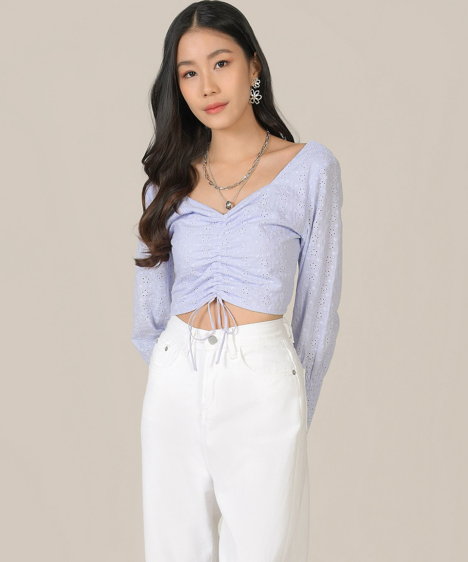 mischa-eyelet-ruched-top-lilac-1