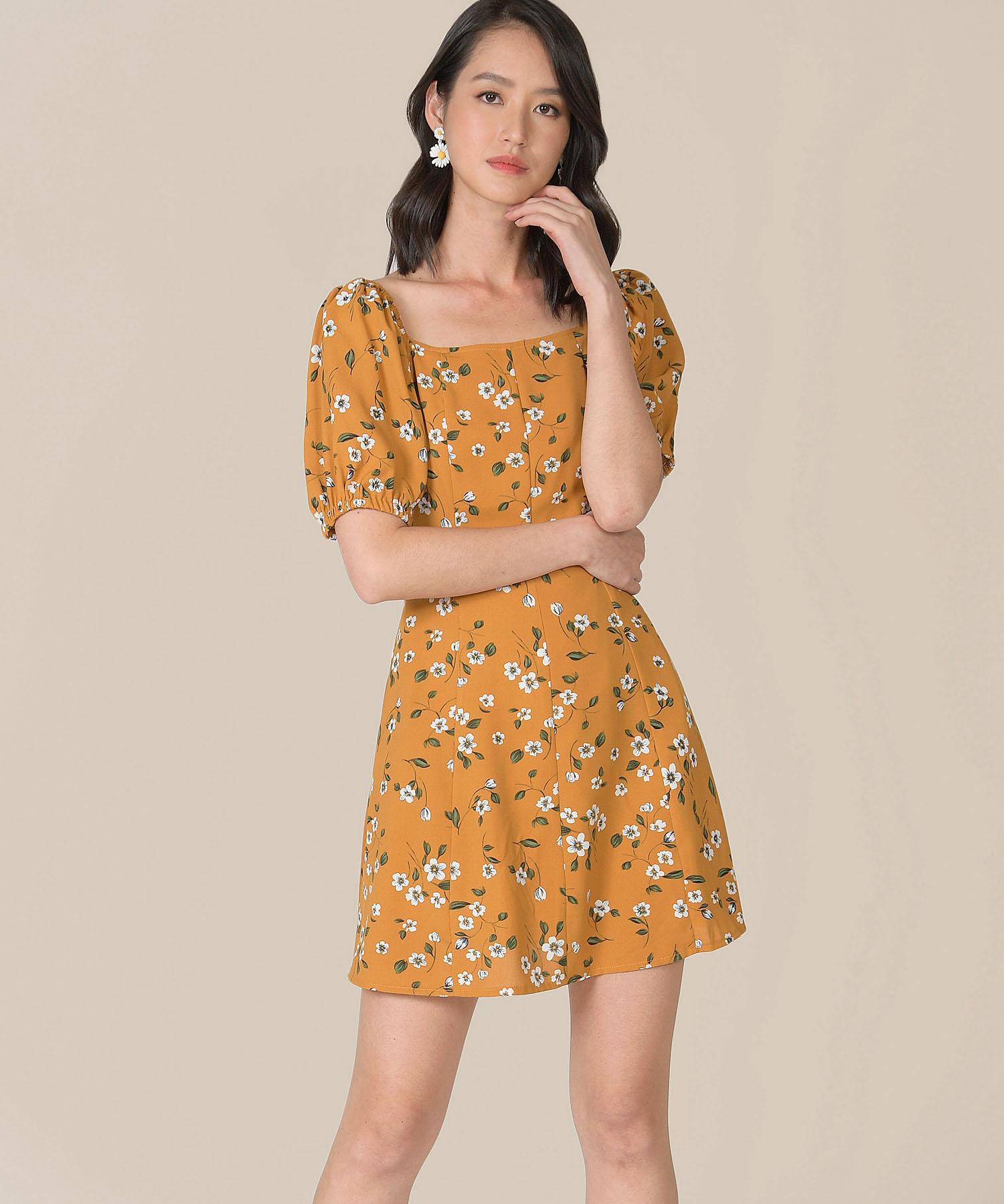 ruth-floral-dress-mustard-1