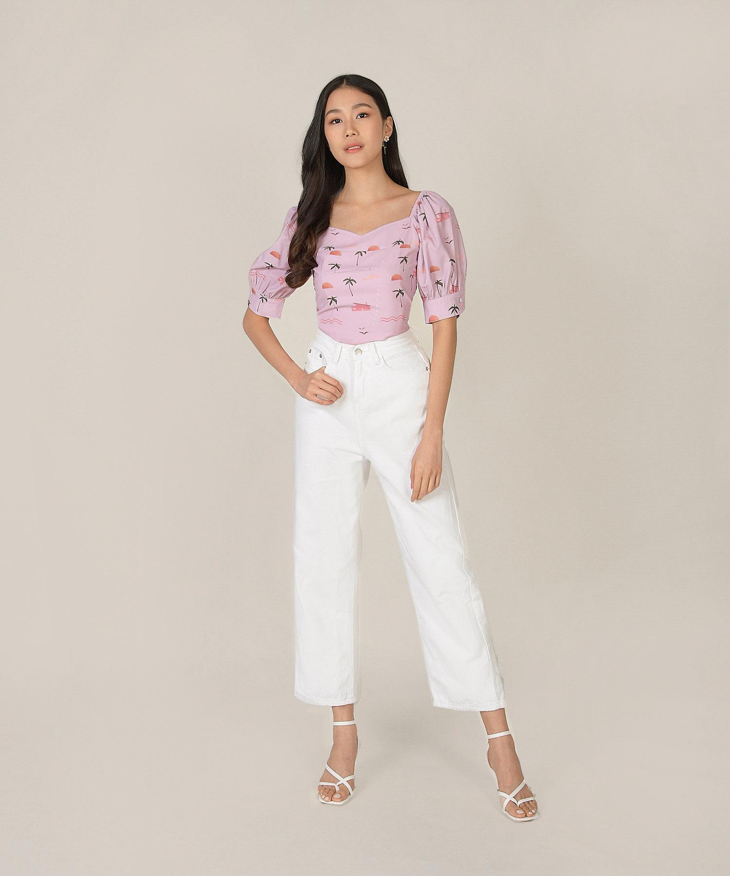 sierra-pouf-sleeved-blouse-sunset-1