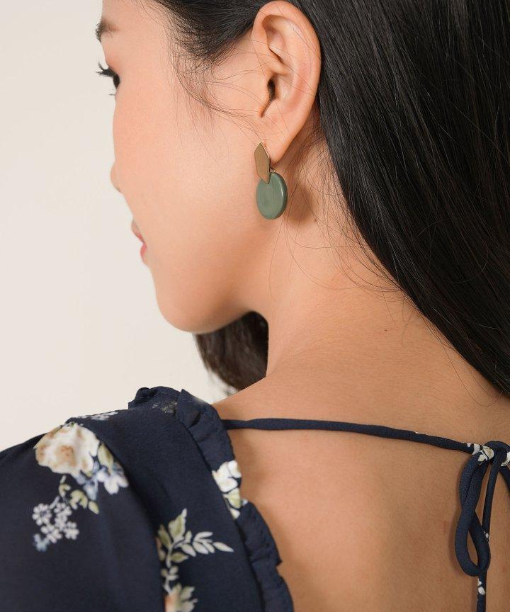 Hudson Circle Earrings - Clay Green