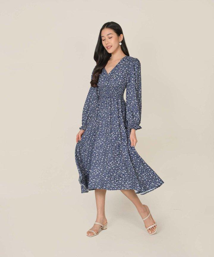 Nayirah Floral Midi Dress (Restock)
