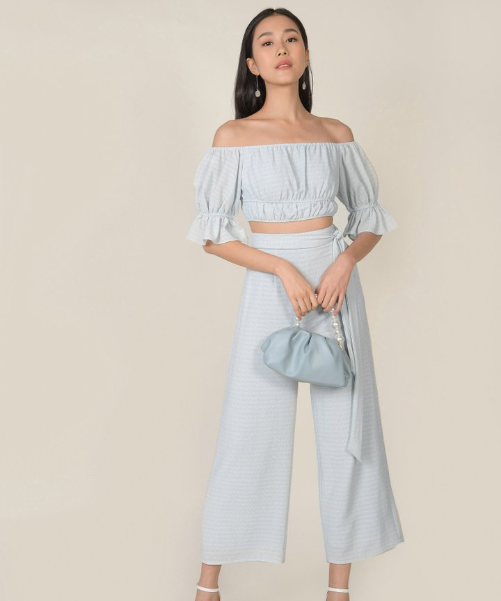 Rhodes Gingham Co-ord - Baby Blue (Backorder)