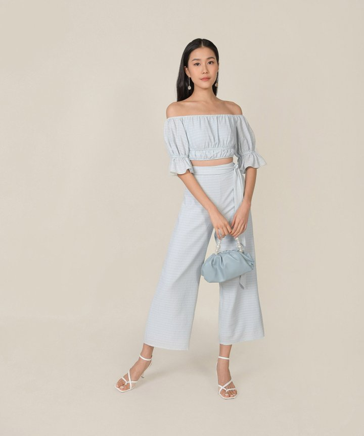 Rhodes Gingham Co-ord - Baby Blue (Restock)