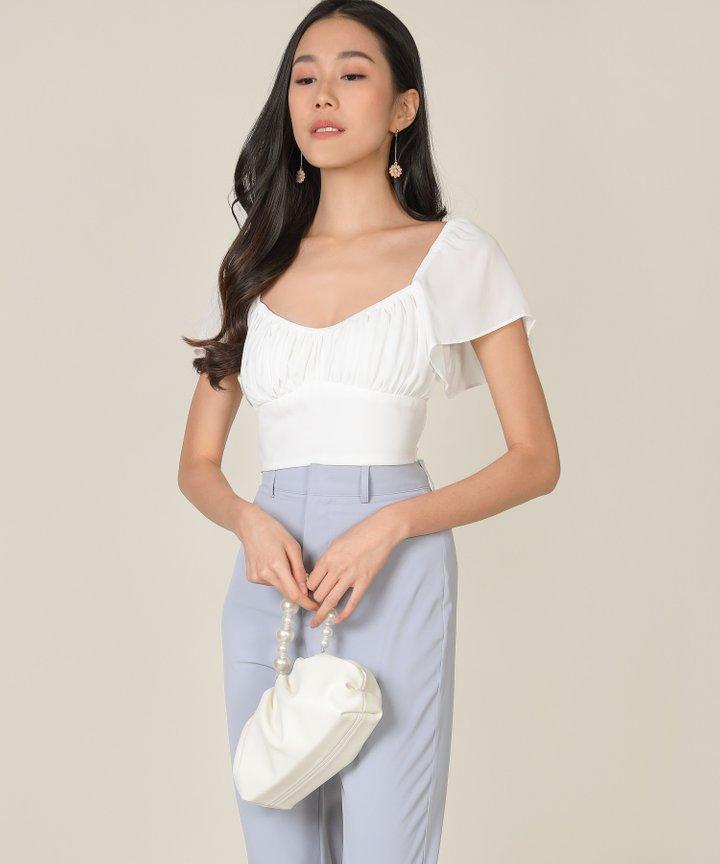Windsor Cropped Top - White (Backorder)