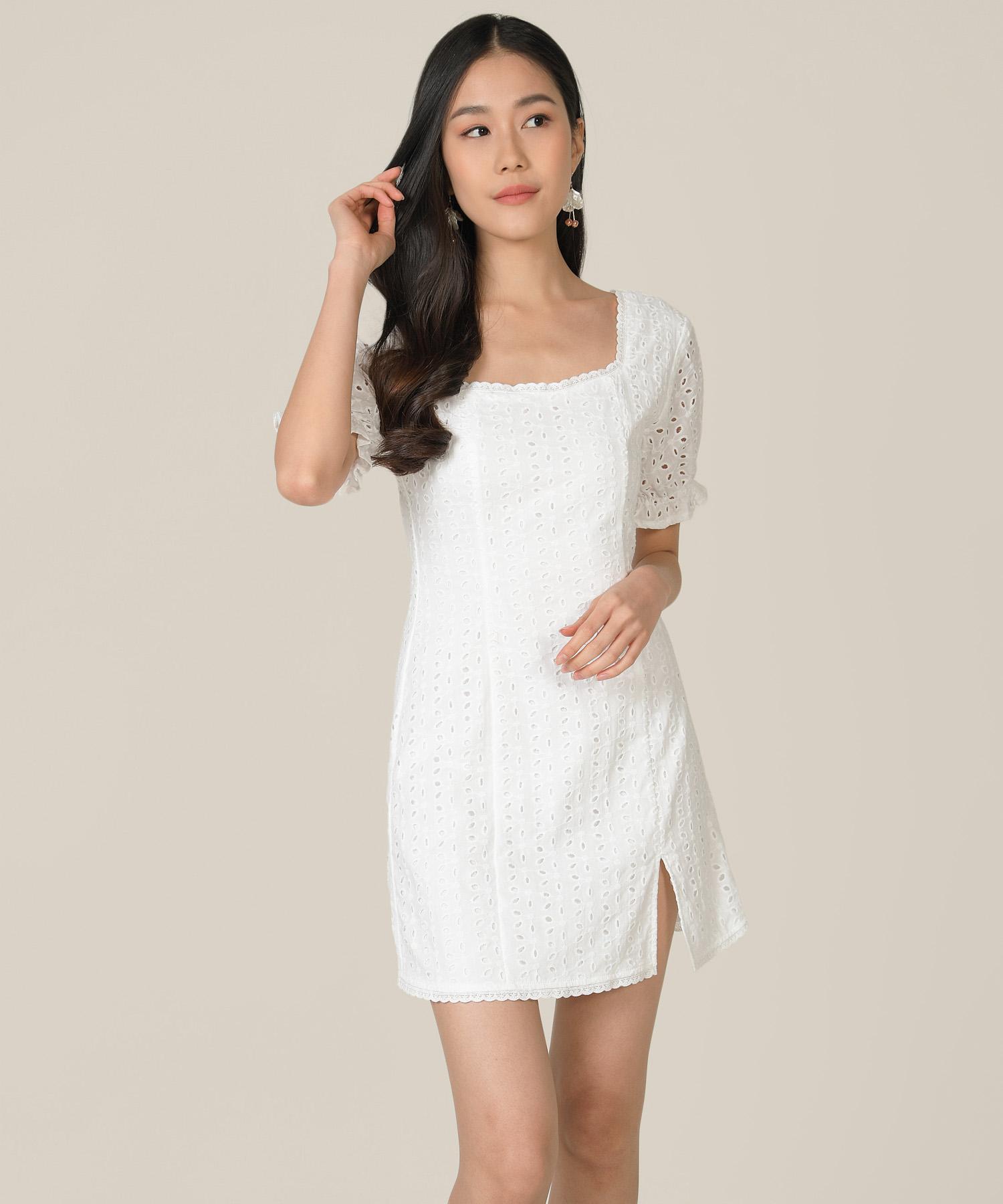 vianna-eyelet-pouf-sleeved-dress-white-1