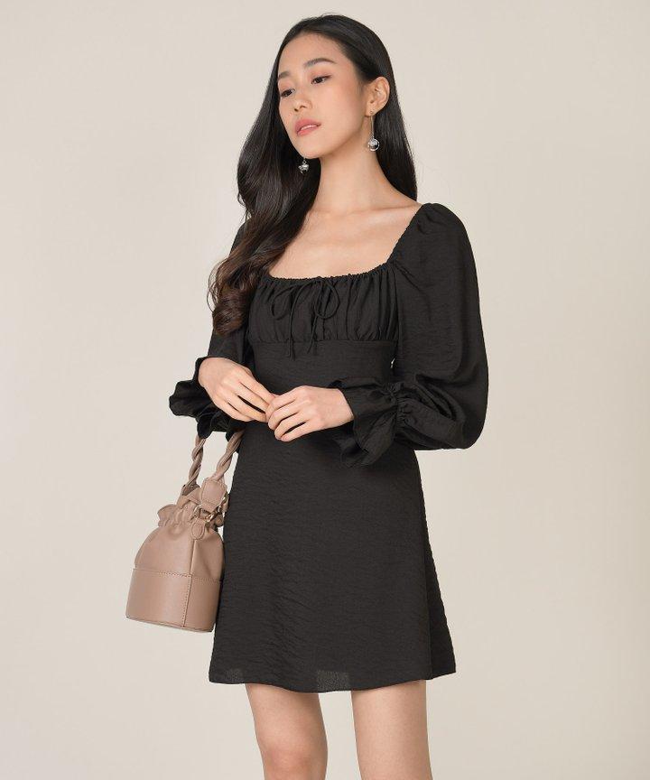 Camellia Ruched Dress (Restock)