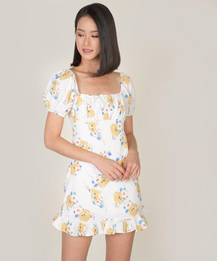 Frederika Floral Ruched Dress