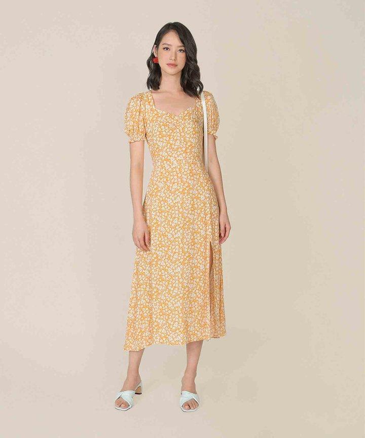 Lover Floral Slit Midi Dress (Backorder)