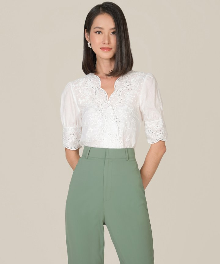Prescott Tailored Pants - Eucalyptus