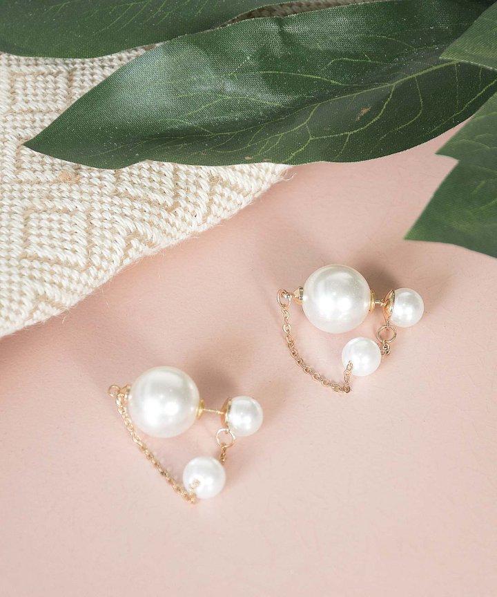 Belen Pearl Chain Earrings (Backorder)