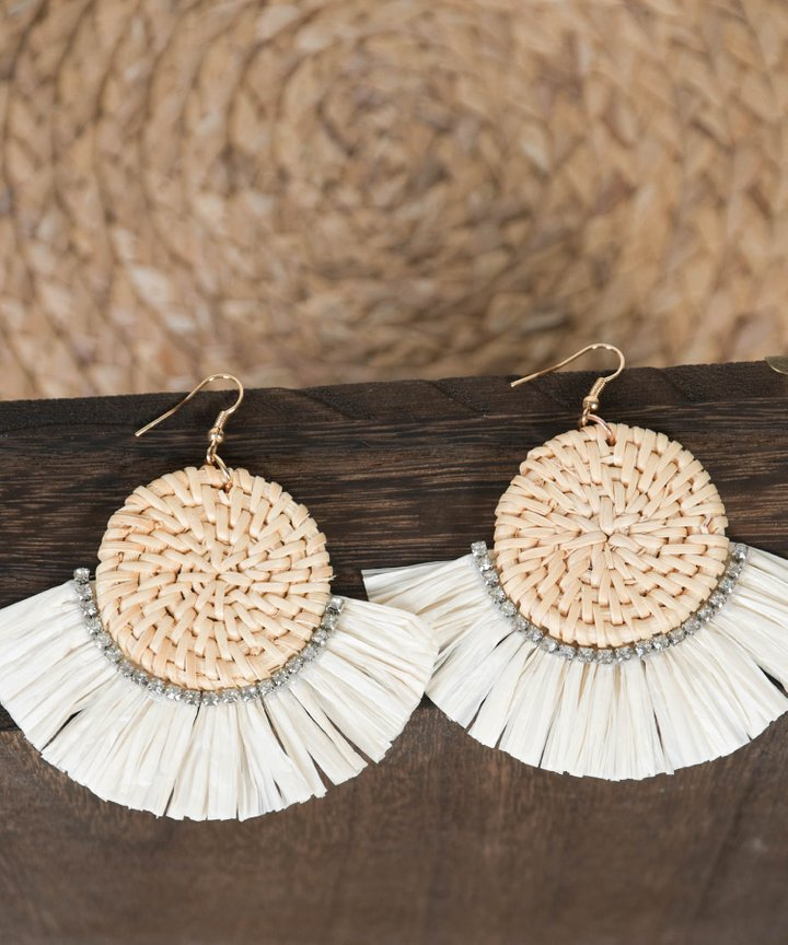 Cabo Woven Tassel Earrings
