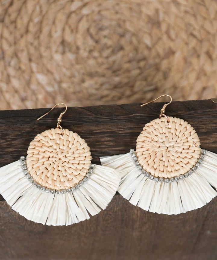 Cabo Woven Tassel Earrings